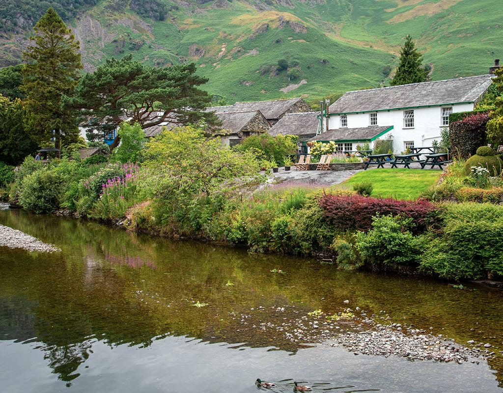 Scenic riverside village